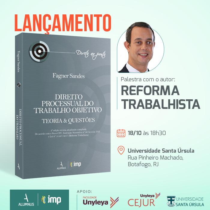 Professor do CEJUR lança livro sobre a Reforma Trabalhista